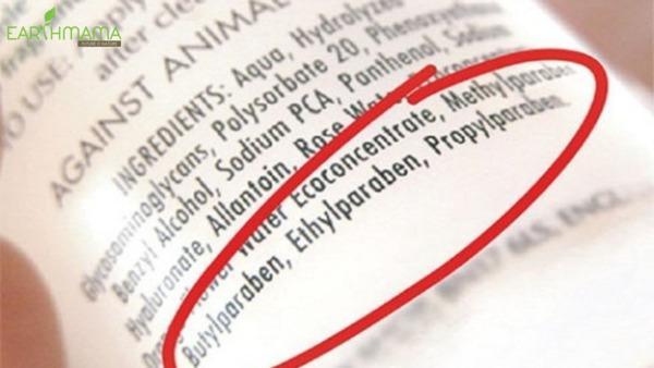 Parabens là thành phần bị cấm nhưng vẫn tồn tại các sản phẩm sữa tắm dầu gội cho trẻ sơ sinh chứa hợp chất này
