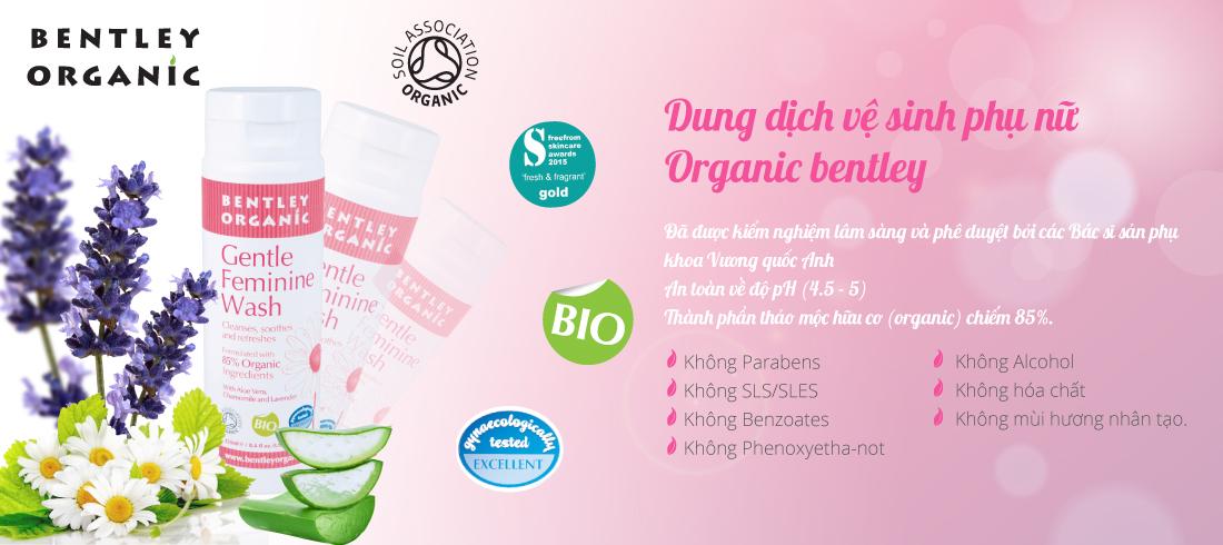 dung dịch vệ sinh phụ nữ Bentley Organic